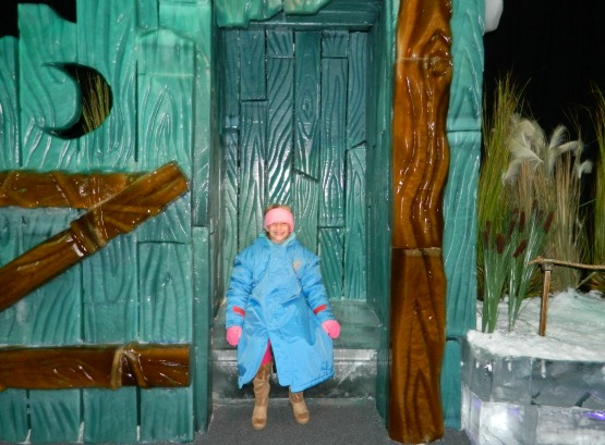 This would be my wee one in the ICE! outhouse.