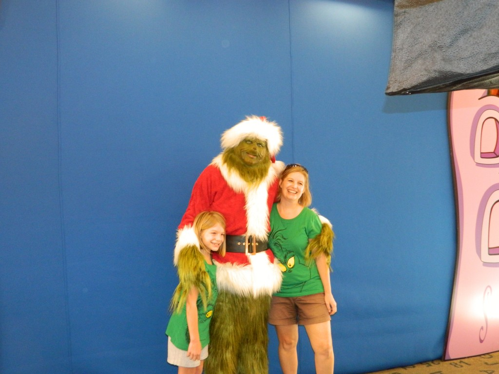 Meet and Greet with the Grinch.  Everybody is a Who in Seuss Landing.