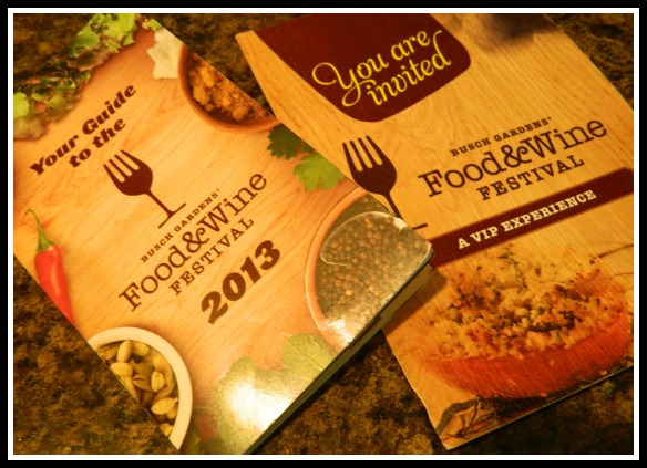 Busch Gardens' Food & Wine Festival - May 31 - June 23, 2013.