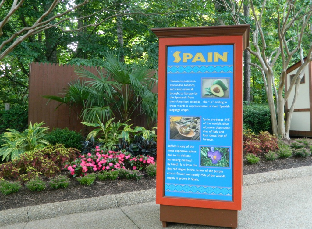 Spain description sign.