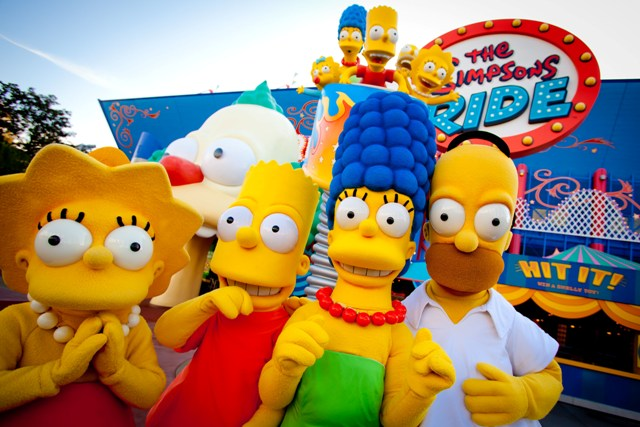 Lisa, Bart, Marge, Homer and Maggie Simpson. Photo: Universal