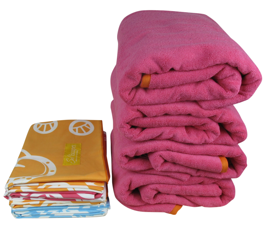 One SolEscapes travel towel takes the place of four regular-sized beach towels. Photo: PR Newswire/SolEscapes