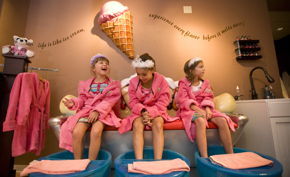 Scoops kids' spa. Photo: Great Wolf Lodge