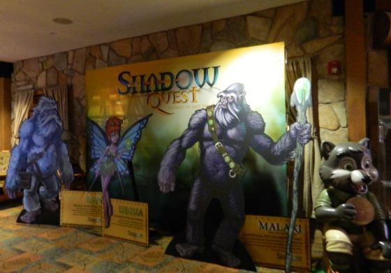 Shadow Quest and Great Wolf Lodge characters.