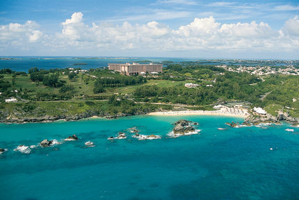 The Fairmont Southampton from above. Photo: Fairmont Southampton Bermuda