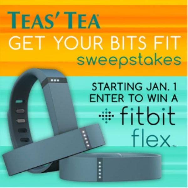 Win a Fitbit Flex in the TEAS' TEA Get Your Bits Fit sweepstakes. Photo: TEAS' TEA
