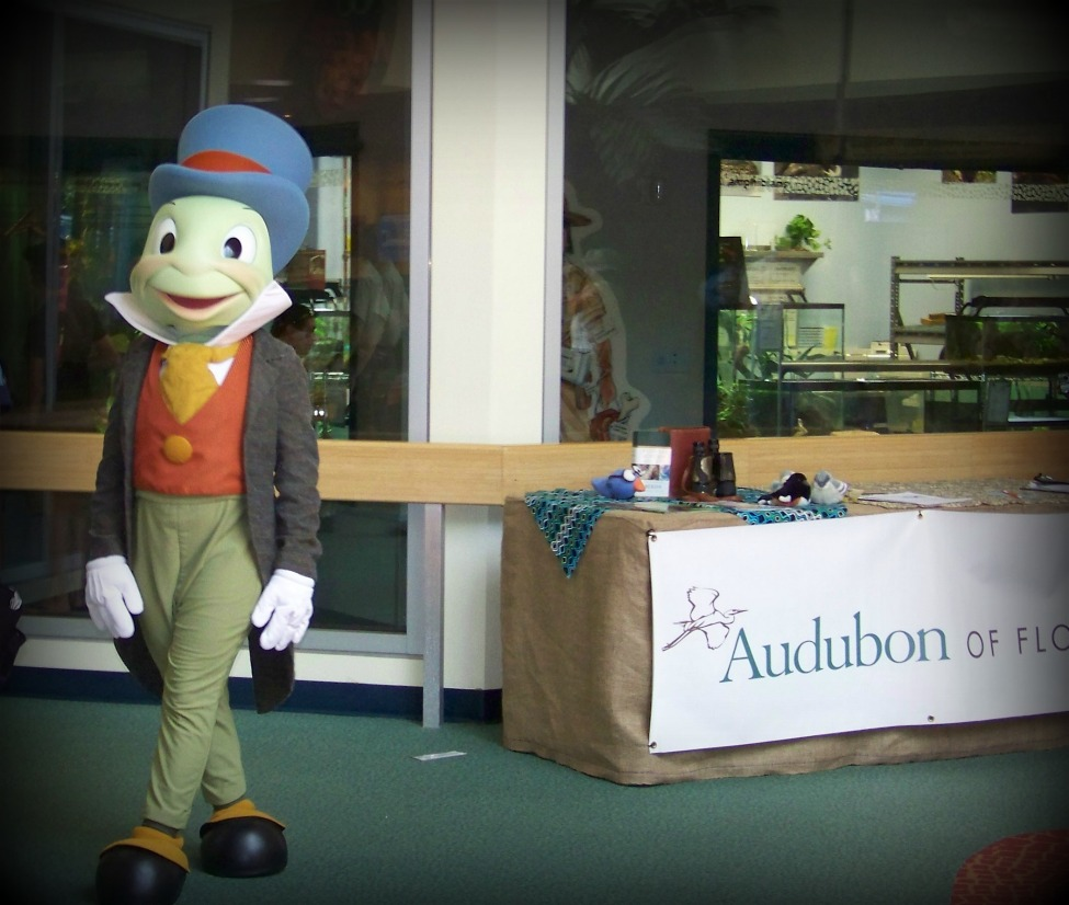 Jiminy Cricket guides your conscience at the Conservation Station.