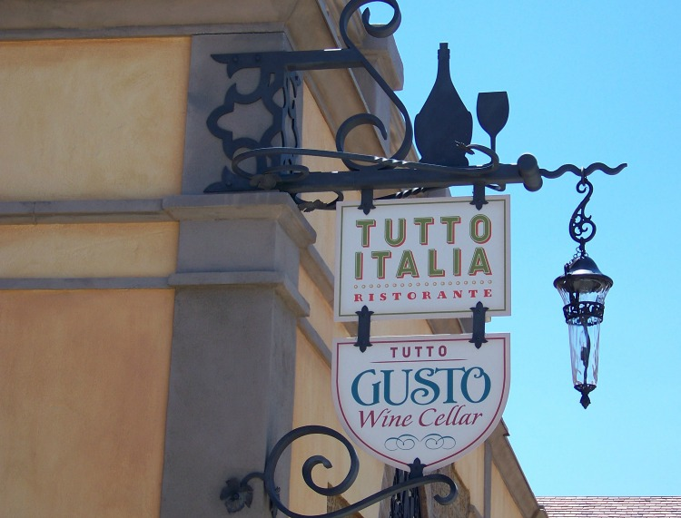 Tutto Italia - one of our favorite full service restaurants at Epcot.