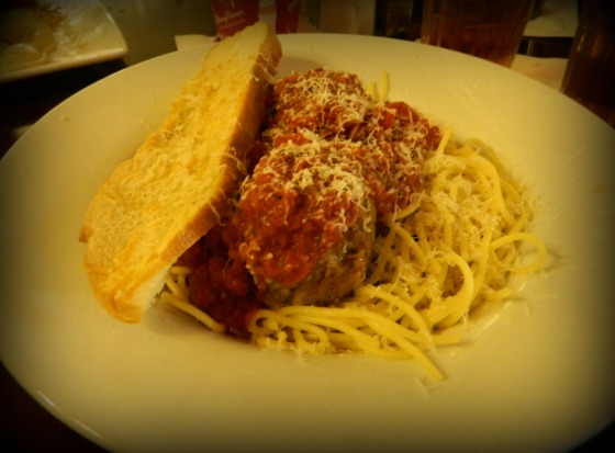 You can't not order spaghetti at Tony's.