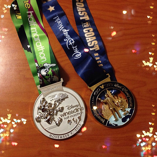 runDisney medals. Photo: Flickr/CC license/AngryJulieMonday