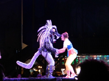 How amazing is this wolf costume? This is the Entwined show that takes place in Das Festhaus.