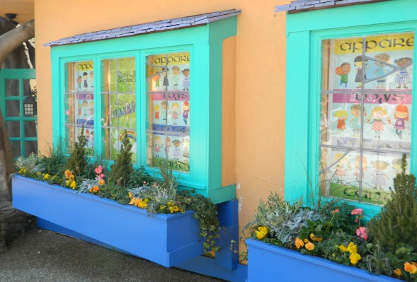 Beautiful window boxes.