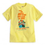 'It's a Small World' and 'Carousel of Progress' poster art t-shirts from the Disney Store
