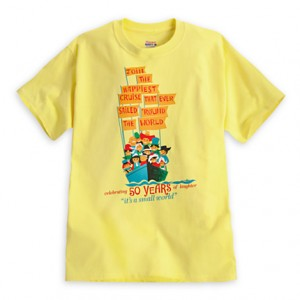 It's a Small World attraction poster art t-shirt Photo: Disney Store