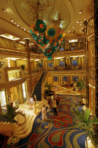 The atrium of the Disney Wonder. Photo: Walt Disney World