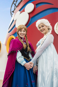 "The ""Frozen"" sisters, Elsa and Anna. Photo: Matt Stroshane"
