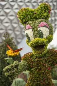 Cute character topiaries make Epcot's International Flower & Garden Festival fun for all ages. Photo: Matt Stroshane