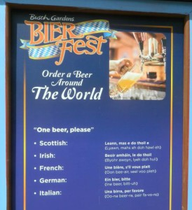 Learn how to order a bier around the world.