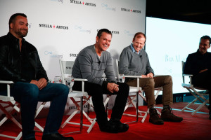 (L - R) Todd Allen, Global Vice President, Stella Artois, Water.org Co-Founders Matt Damon and Gary White, and Sean Bailey, Sundance Institute Board member Photo: Rick Kern/Getty Images for Stella Artois