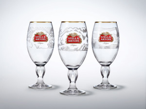 """Buy a Lady a Drink"" Stella Artois chalice Photo: Stella Artois"