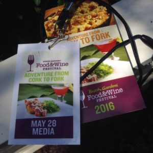 The 2016 Busch Gardens Food & Wine Festival